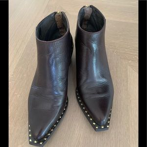 Wishbone Collection Chocolate Brown Leather Boots